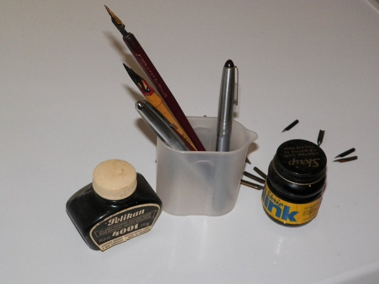 Calligraphy Pens and Ink