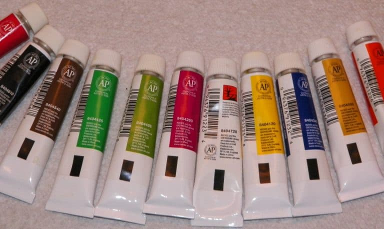 Oil Paints in Tubes on the table