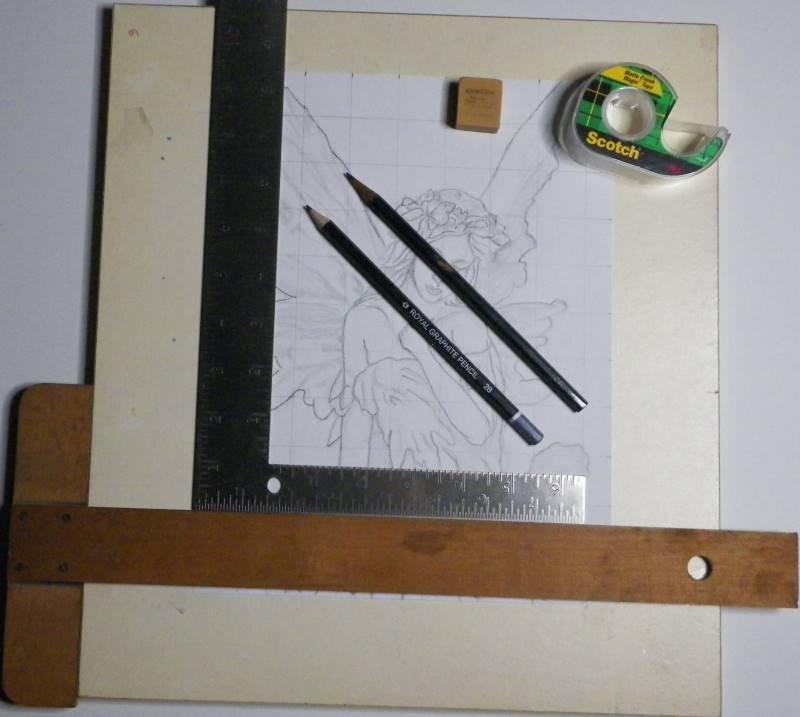 Tools used on fairy grid drawing