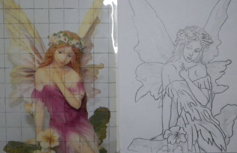 Fairy drawing and photo comparison